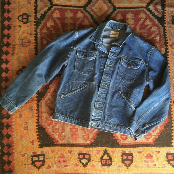 f01460522e Vintage 60 s 70 s Wrangler Denim Jacket. M 5a67a878a44dbee6eb4933a3